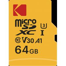 Карта памяти Kodak Ultra Pefomance MicroSD UHS-I(3) V30 A1 64Gb 100/85 Mb/s