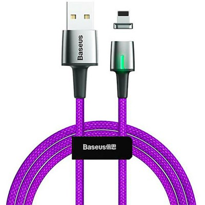 Baseus Zinc Magnetic Cable USB For iP 1.5A 2m Purple