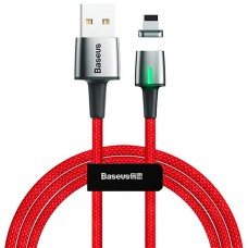 Baseus Zinc Magnetic Cable USB For iP 2.4A 1m Red