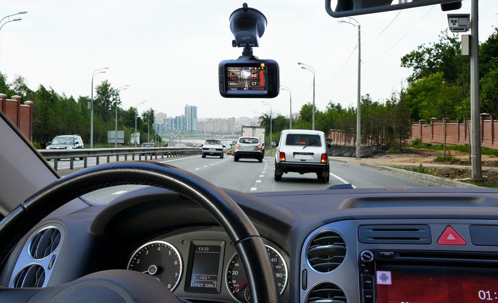 Автомобильный видеорегистратор CARCAM HYBRID - Super HD видеорегистратор, сигнатурный радар-детектор и GPS-информер